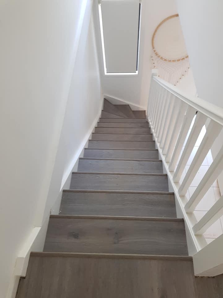 Flooring installation on stairs image