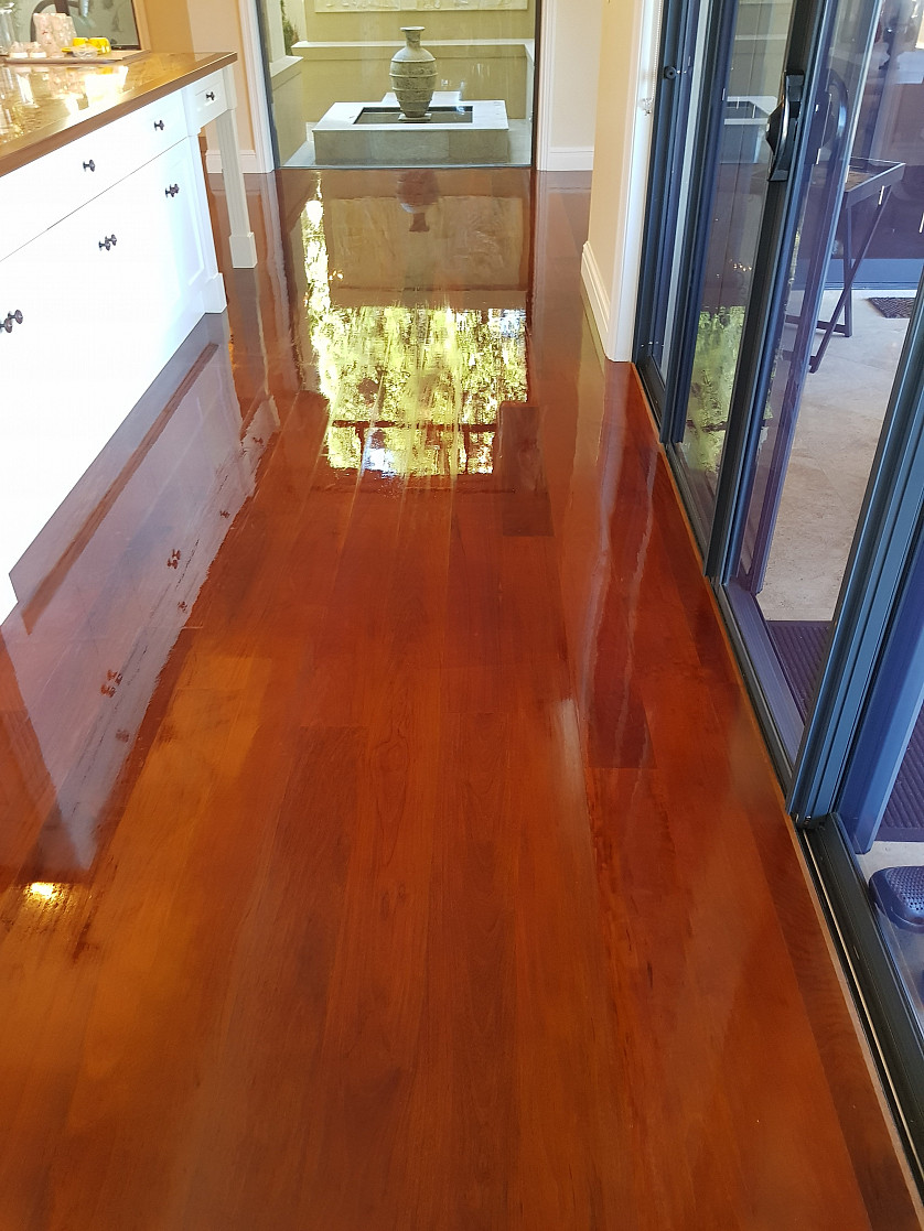 Timber floor cleaning and restoration image